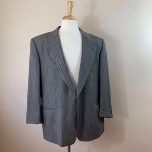 Valentino %100 Virgin Wool Grey Blazer Sportcoat
